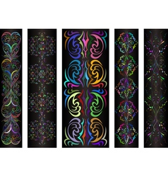 Banners with colorful ornament vector image vector image