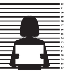 Criminal record vector image
