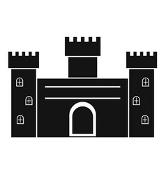 medieval fortification icon simple style vector image