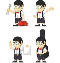 Nerd Boy Customizable Mascot 7 vector image vector image