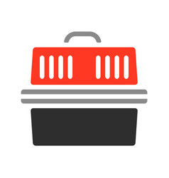 carrier for pets flat color icon vector image