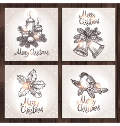 Christmas Cards Collection vector image vector image