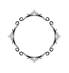 Classic geometric vintage black pattern on white vector