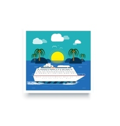 Cruise Ship Water Tourism vector image vector image