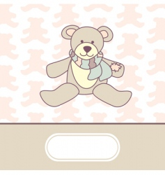 cute baby arrival card vector image vector image