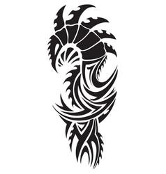 dragon tattoo vintage engraving vector image vector image