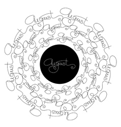 Handwritten calligraphy isolated white and black vector image