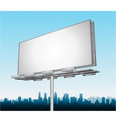 Highway ad billboard roadside vector