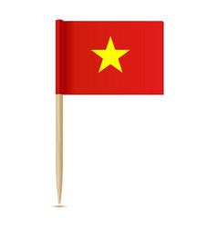 vietnam flag flag toothpick 10eps vector image