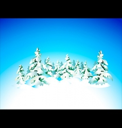 winter snow forest vector image