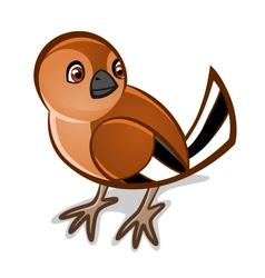 cartoon bird one vector image vector image