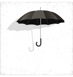 classical umbrella on grunge background vector image vector image