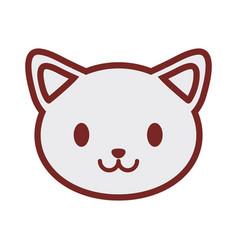 cute cat face image vector image