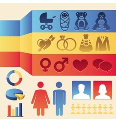 infographics elements - man and woman vector image vector image