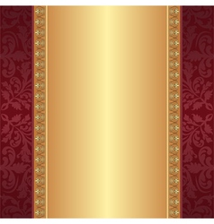 maroon and gold background vector image vector image