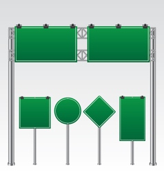 Road sign green vector image