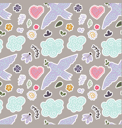 seamless spring pattern vector image vector image