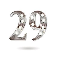 29 years anniversary celebration design vector image