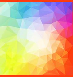 Abstract irregular polygon background rainbow vector