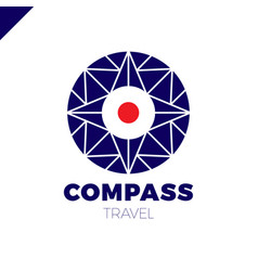 abstract multicolor compass symbol logotype vector image