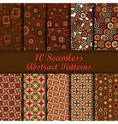 Abstract patterns set vector image