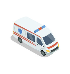 ambulance car isometric 3d element vector image