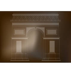 Arc de Triomphe - triumphal arc in Paris France 3 vector