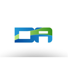 Blue green da d a alphabet letter logo vector