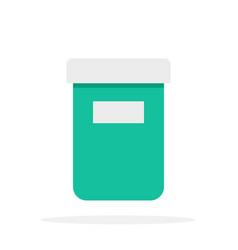 bottles medicines flat material design vector image