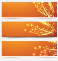 Bright cable bandwidth speed swoosh header vector