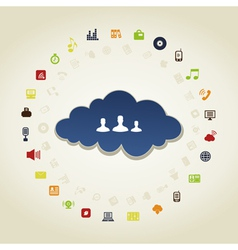 Business a cloud vector