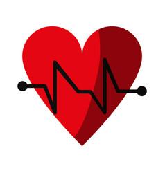 Cartoon hear and cardiogram icon image vector