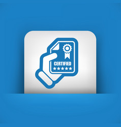 Certified document icon vector
