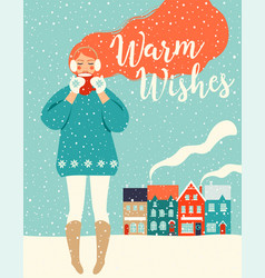 christmas and happy new year templates trendy vector image