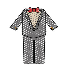 color crayon stripe image wedding suit male with vector image