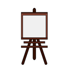 color image cartoon wooden easel for drawing vector image