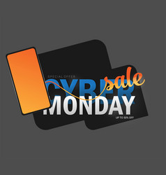 cyber monday background design eps 10 vector image