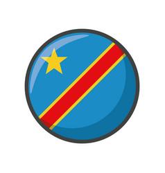 Democratic republic congo flag icon block vector