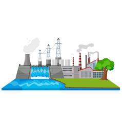 Digital asset management by the factories vector