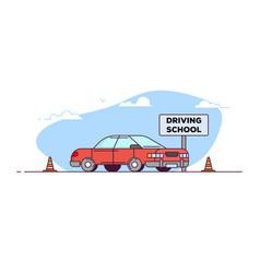 driving school car vector image