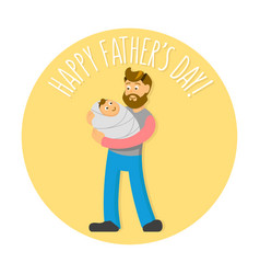 father s day with hipster-style vector image