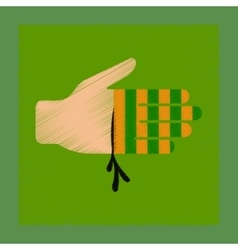 Flat shading style icon bloody hand vector