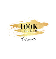 Followers banner 100k thank you poster modern vector
