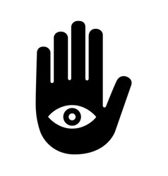 fortune telling palmistry or palm reading icon vector image