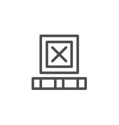 freight box line icon vector image
