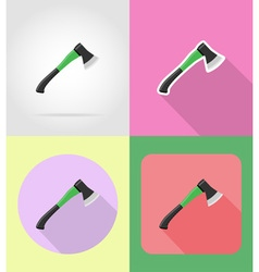garden tools flat icons 05 vector image