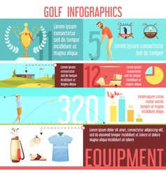 Golf Sport Infographic Retro Cartoon Poster vector image
