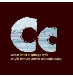 grungy letter C vector image