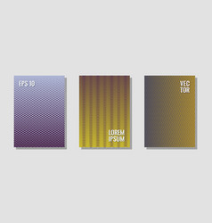 halftone gradient texture cover layouts vector image