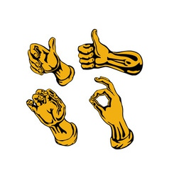 Hands Collection Retro vector image